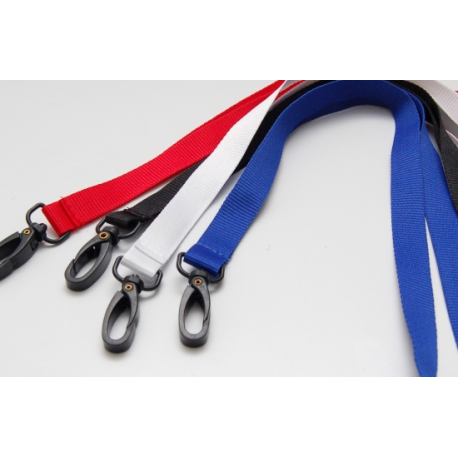 "Lanyard 15mm (5/8"") - plastic hook"